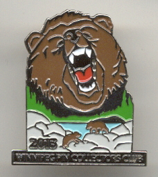 2013 WPCC Grizzly Bear pin version # 5